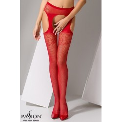 Collants ouverts S005 Rouge Passion