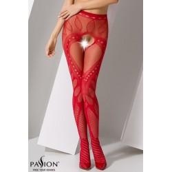 Collants ouverts S007 rouge Passion