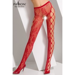 Collants ouverts S008 rouge Passion