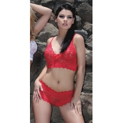 AMORES SET Ensemble Rouge Lingerie Passion