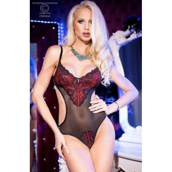 Body CR-4155 Noir-Rouge Chilirose Lingerie
