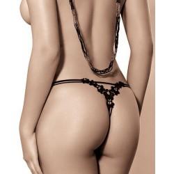 FIONA String Noir Lingerie Roza
