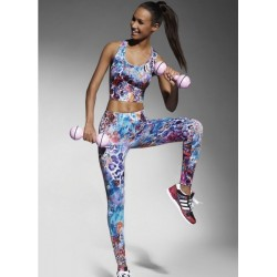 CATY 90 Legging Fashion de Sport Bas Bleu