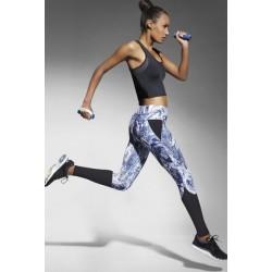 TRIXI Legging Fashion de Sport Bas Bleu