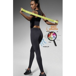 RILEY Legging de Sport Anti cellulite Bas Bleu