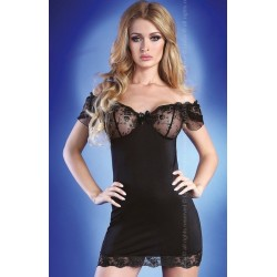 ADONISA Nuisette Noire Livco Corsetti Flowers Collection