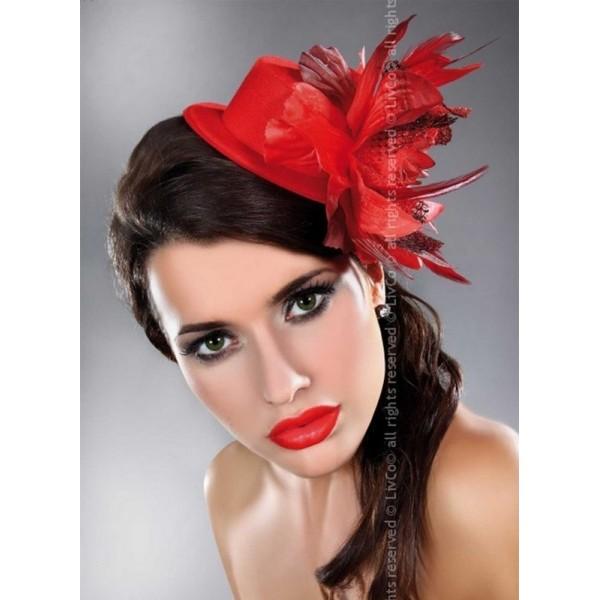 Chapeau Fleur rouge Hat 23 Livco Corsetti