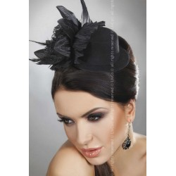 Chapeau Fleur noire Hat 22 Livco Corsetti