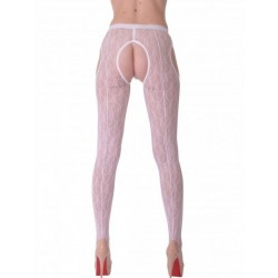 MONA Collants Ouverts Blanc  LeggStory