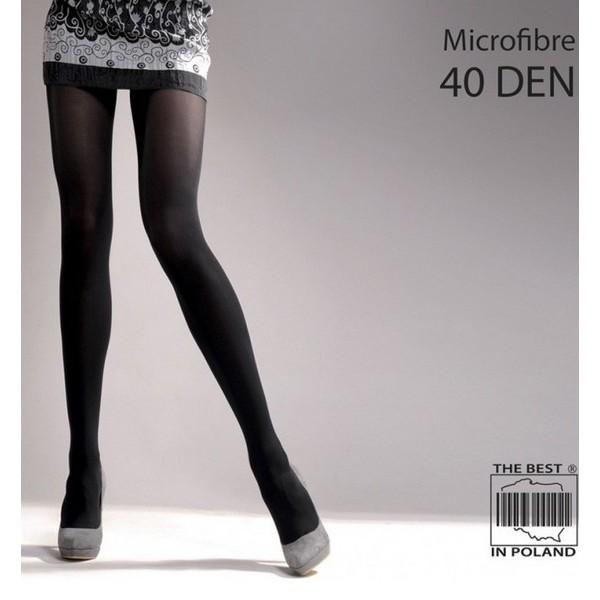 Microfibre 40 Den Collant Noir ou Anthracite Gabriella