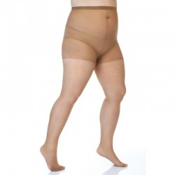 Collants grande taille 20 deniers Beige Lida