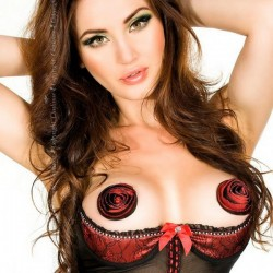 Nipples Bordeaux Chilirose Lingerie