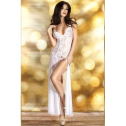 Nuisette Longue CR-3470 Blanche Chilirose