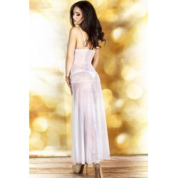 Nuisette Longue CR-3470 Blanche Chilirose dos