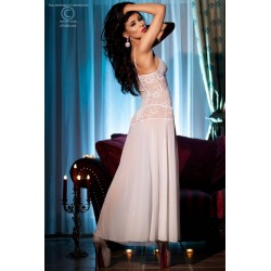 Nuisette Longue CR-3471 Blanche Chilirose dos