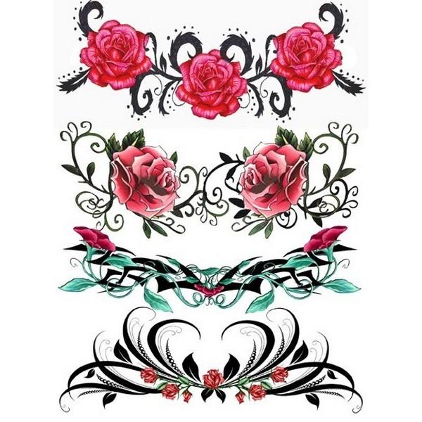 Tatouage éphémère Tribal 08 ES Plaque de 4 Love Tattoo