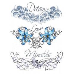 Tatouage éphémère Plaque de 3 Love Tattoo