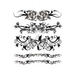 Tatouage éphémère Fleurs Plaque de 5 Love Tattoo