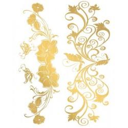 Tatouage éphémère Gold 04 Effet or Love Tattoo