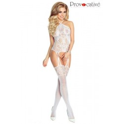BODYSTOCKING Blanc PR4664 Lingerie Provocative