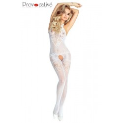 BODYSTOCKING Blanc PR4672 Provocative