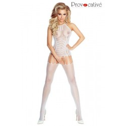 BODYSTOCKING Blanc PR4676 Provocative