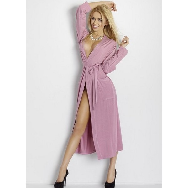 Viki Robe De Chambre Longue Viscose 11 Coloris Couleur Noir Tailles S