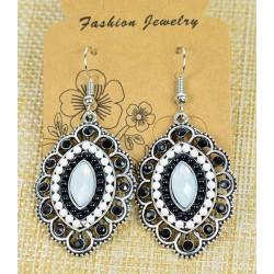 Boucles Oreilles Athena en Strass et perles
