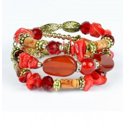 Bracelet spirale Rouge Collection CYBELE