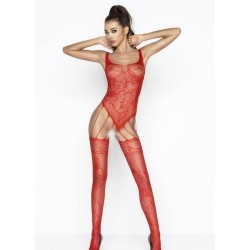 Combinaison en dentelle BS034 Rouge Passion