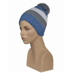 Bonnet Rayé Bleu Gris et Blanc Gwinner