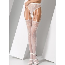 Collants ouverts S016 Blanc Passion