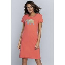 KONGO chemise de nuit coton Orange