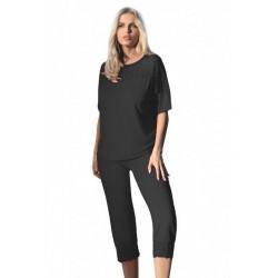 ARA Pyjama en viscose DKKaren noir