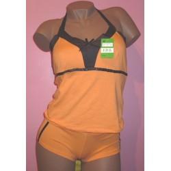 Caraco en coton orange