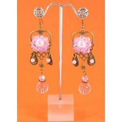 Boucles Pampilles Roses 32259