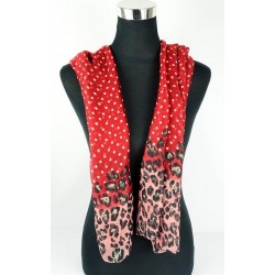 Foulard polyester 77134 rouge