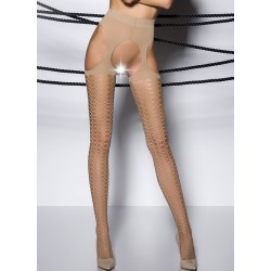 Collants ouverts TI004 Beige  Passion