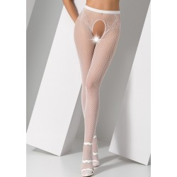 Collants ouverts S019 Blanc  Passion