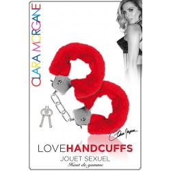 Menotte Love Handcuffs Fourrure rouge Clara Morgane