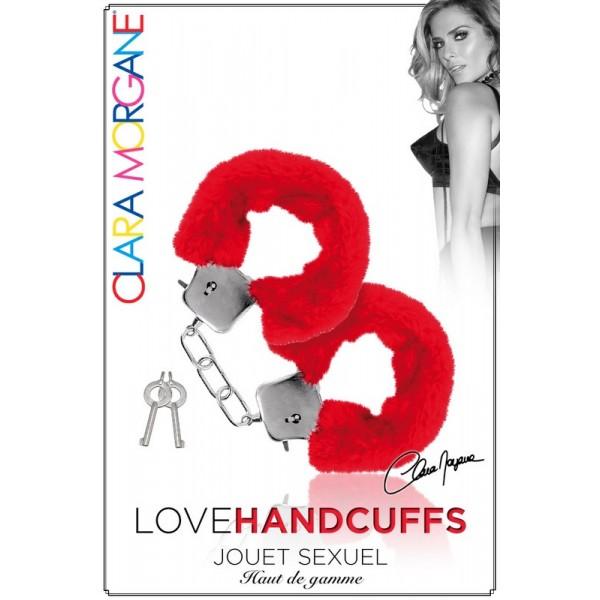 Menotte Love Handcuffs Fourrure rouge Clara Morgane