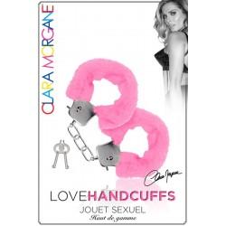 Menotte Love Handcuffs Fourrure rose Clara Morgane