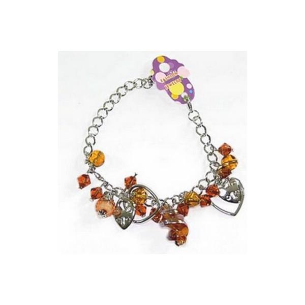 Bracelet perles 21525 Marron