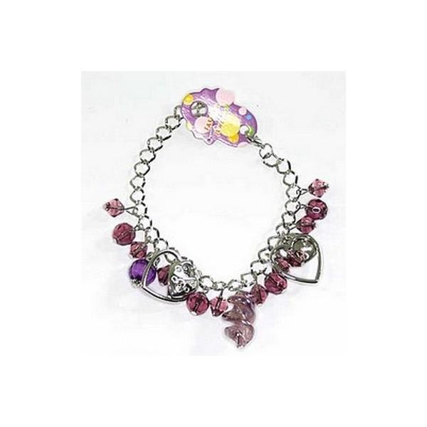Bracelet perles 21526 Mauve