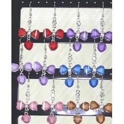 Boucles d'oreille en perles de verre
