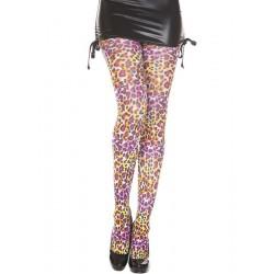 Collant léopard arc en ciel 37485 Music Legs