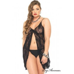Babydoll Adoration 8782 Noire Grande Taille
