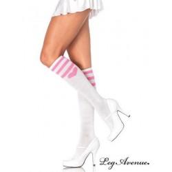 Chaussettes Coeurs Blanches 5598 Leg Avenue