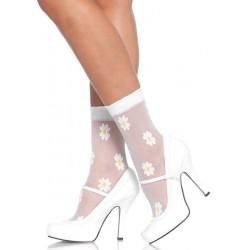 Chaussettes Fleurs Blanches Leg Avenue