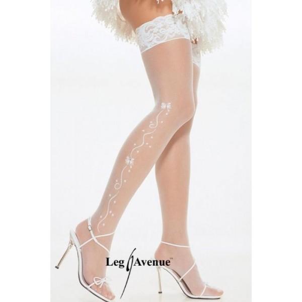 PLUIE D'ETOILES Bas Blanc 9019 Leg Avenue